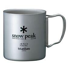 Snow Peak titanium double mug 450ml MG-053R