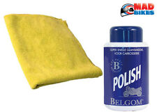 Belgom Polish. Premium Finish for Motorcycles, Cars, Boats + Micro Fibre Cloth