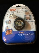 "Royal Digital Picture Keychain 1.1"" LCD Display 56 Photos USB Cable Software NIP"