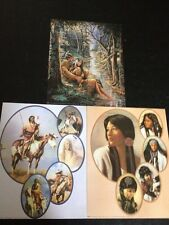 "3- 8"" X 10"" Native American Collage Picture Prints In Lithograph by Dealer"