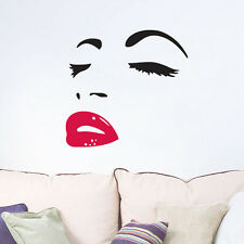 Marilyn Monroe Face Beautiful Sexy lip decor vinyl Wall sticker wall decals