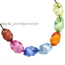 80x 112274 New Mixed Colorful Acrylic Loose Twisty Beads Fit Jewelry Making