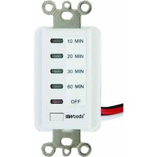 60-Minute Digital Wall Timer For Exhaust Fans & Lights