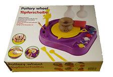 Töpferscheibe für Kinder mit Tonmasse - Basteln, Modellieren, Töpferset - NEU