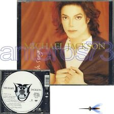 "MICHAEL JACKSON ""EARTH SONG"" RARO CDsingolo 5 TRACKS"