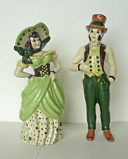 "CERAMIC MAN and LADY FIGURINES Colonial 7"" Couple"