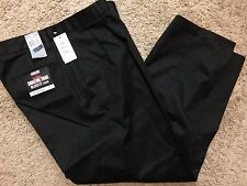 NWT Men Dockers Signature Khaki D4 Relaxed Fit Pleated Pants Black 40X34 $58