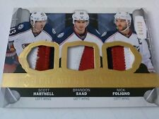 Hartnell Saad Foligno 2015-16 UD Premier Teammates Prime Patch /10 Blue Jackets