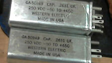 Western Electric G50349  capacitor NOS (.25uf ) OIL
