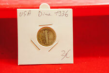 USA DIME ARGENT 1936 - OLD AMERICAN SILVER COIN -