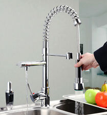 Modern style deck mounted kitchen chrome faucet taps mixer