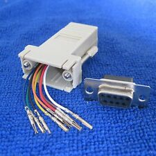 RJ45 Female to DB9 9pin RS232 female Modular Adapter CONNECTOR jack EXTENDER