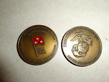 CHALLENGE COIN USMC MARINE CORPS MANPOWER RESERVE AFFAIRS DCS 3 STAR GENERAL