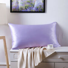 100% Silk Charmeuse Pillowcase Mulberry Pillowcase Cover Fit Standard Queen King