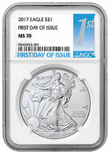 2017 American Silver Eagle NGC MS70 First Day of Issue SKU44406