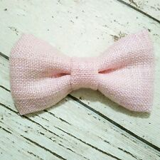 Children's & Baby Boys Handmade Dickie Bow Tie in Laura Ashley Baby Pink Fabric