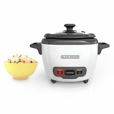 BLACK DECKER RC503 Mini 3-Cup Cooked/1.5-Cup Uncooked Rice Cooker White