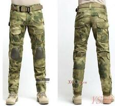 New Camouglage Knee Pad Trousers Military Men Motorcycle Combat Riding Pants Sz