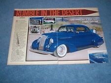 """1937 Chevy Custom Sport Coupe Article """"Rumble in the Desert"""""""