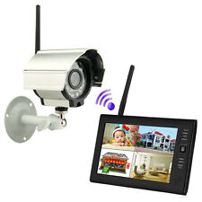 "7"" TFT LCD 2.4G 4CH Wireless DVR Security System Digital Monitor Infrared Camera"