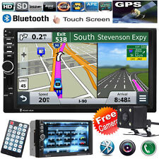 "GPS Navigation 7"" 2 DIN Car MP5 Player Radio Stereo MP3 Bluetooth FM/TV + Camera"