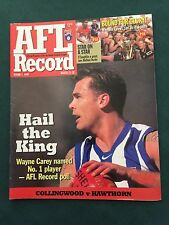 Vintage VFL/AFL 1999 Round 1 Football Record Collingwood V Hawthorn