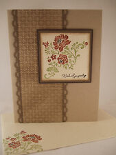 "Stampin Up ""Fresh Vintage"" Handmade Sympathy Card"