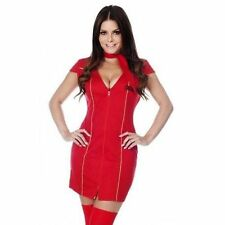Mile High Red Air Hostess Cabin Crew Outfit Fancy Dress Hen Costume Size 8/10