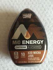 MIO ENERGY ICED MOCHA JAVA, BLACK CHERRY- 1.62 OZ EACH (2 BOTTLES)