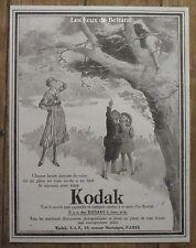 Publicité Appareil photo KODAK  enfantts plein air 1921, advert