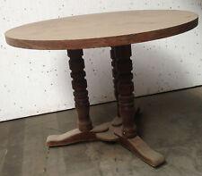 table de bistrot bois massif piètement tripode plateau stratifié . XX siècle .