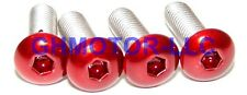 03 04 05 06 DUCATI 749 999 COMPLETE CANDY RED FAIRING BOLTS SCREWS FASTENERS KIT
