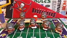 9-pc NFL Teenymates Tampa Bay Buccaneers set (2QBs/2RBs/WR/LB/LM) + bench/cooler