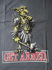 T-shirt MAGIC THE GATHERING, get armed, 10th Anniversary, taglia L, Grigio, 100% Cot, raramente