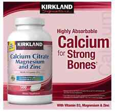 Kirkland Calcium Citrate with magnesium and zinc  500 Total Tabs 500 mg Vit D3