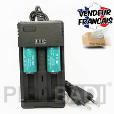 CHARGEUR RS-93 + 2 PILES ACCU RECHARGEABLE CR123A CR123 16340 3.7v 1200mAH