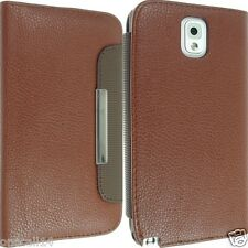 Per Samsung Galaxy Note 3 III N9000 Leather Case Cover Flip Custodia Sottile Posteriore Pelle