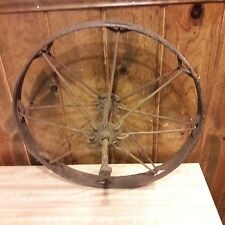 OLD Primitive Looking Cast Iron Farm Wheel From Old-Time Farm Auction #3