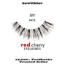 RED CHERRY 100% HUMAN HAIR BLACK FALSE EYE LASHES #415 BRAND NEW