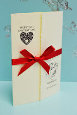 50 PERSONALISED WEDDING INVITATIONS GATEFOLD *FREE P/P*