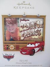 New 2007 Hallmark Picture Frame Christmas Ornament Disney Pixar Cars He's #1