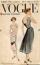 1950's VTG VOGUE Misses' Dress Pattern 9341 Size 14