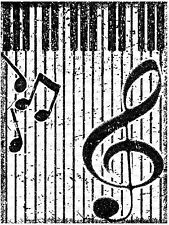 GRUNGE PIANO MUSIC Unmounted Rubber Stamp DAILY BREAD DESIGNS H587 New
