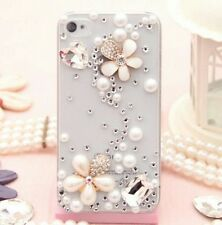 3D Luxury Bling Jewelled Crystal Diamonds Hard Clear Case Cover for Cell Phones
