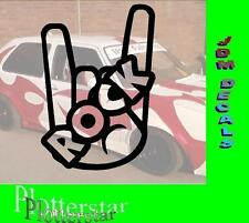 Rock Hand nr3 Metall Hater JDM Sticker Aufkleber oem PS Power Shocker