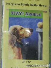 Nwt/Dog And Ball Large House Flag/Stay Awhile/Throw The Ball/29 x 43/Awesome!