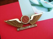 VTG Pin lapel brooch Northwest Orient Wings Airplane Collectible travel souvenir
