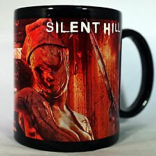 SILENT HILL - Coffee MUG CUP - BLACK - PYRAMID HEAD - NURSE - Resident Evil