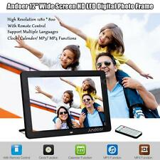 """12""""inch HD 16:9 LED Digital Photo Picture Frame Movie MP4 Player Wireless Remote"""
