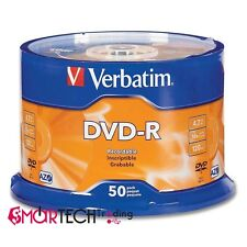 50 DVD-R VERBATIM vergini vuoti 16X Advanced Azo dvdr 4.7 GB ORIGINALI